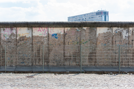 Section of  Wall, Berlin, Germany. South side of the city near Willhelmstrasse. Stockfoto