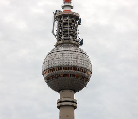 Berliner Fernsehturm, high lookout tower near Alexanderplatz, Berlin, Germany