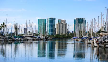 Ala Wai Boat Harbor, Oahu, Hawaii
