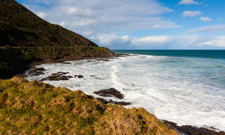 The Great Ocean Road running along the south coast of Victoria, Australia