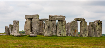 Stonehenge, Salisbury Plains, England. Neolithic prehistoric arrangement of large rocks in a circular formation. Stock fotó