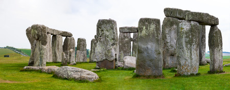 Stonehenge, Salisbury Plains, England. Neolithic prehistoric arrangement of large rocks in a circular formation. 免版税图像