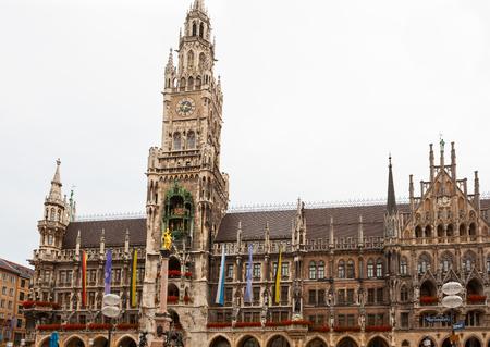 Munich City Hall at Marienplatz, Germany