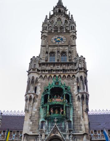 Rathaus-Glockenspiel, Munich, Germany. Town Hall clocktower figurines that perform daily.
