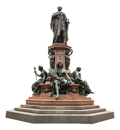 King Maximilian II Memorial, Munich, Germany, isolated on white