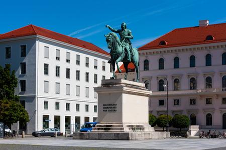 Wittelsbacherplatz, Munich, Germany, featuring a statue of King Maximilian I of Bavaria