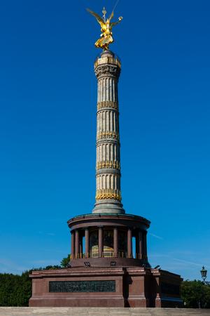 Siegessaule, Victory Column in Berlin, Germany 写真素材