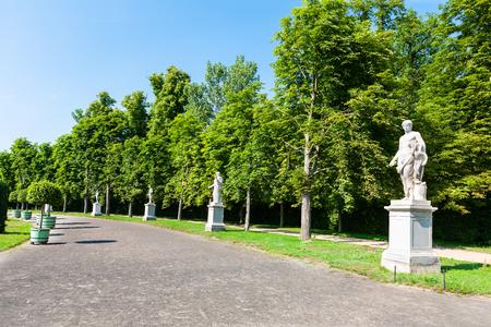 Statues beside roadway outside Potsdam, Germany