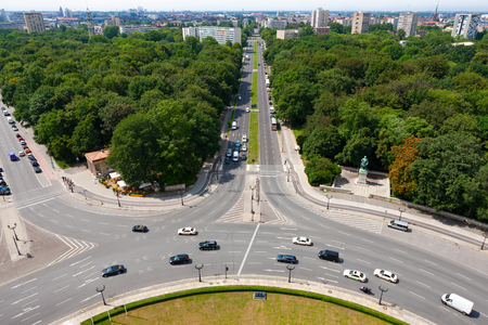 Tiergarten and Berlin city skyline, Germany