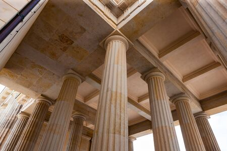 Columns supporting roof of building adjacent to Brandenburg Gate, Berlin, Germany