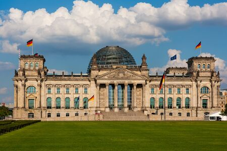Reichstag Building, House of Parliament in Berlin, Germany