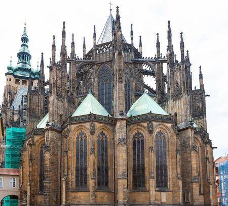 St, Vitus Cathedral, Prague, Czech Republic. Ancient Roman Catholic cathedral.