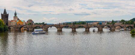 Charles Bridge, Karluv Most, across Vltava River, Prague, Czech Republic