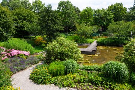 Planten Un Blomen, public park in central Hamburg, Germany 写真素材
