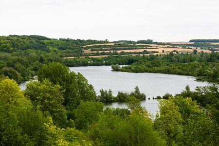 Somme River near Corbie, France 写真素材