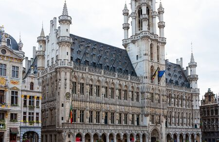 Grand Place, Market Square with Brussels Town Hall, Belgium 写真素材
