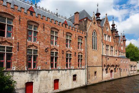 Buildings along canal, Brugge, Bruges, Belgium