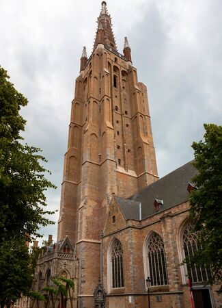 Church of Our Lady, 13th-century Gothic church, Brugge, Bruges, Belgium 写真素材