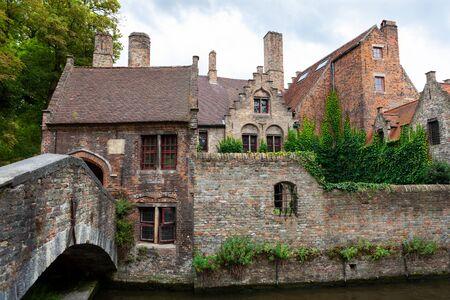 Riverside cottages, Brugge, Bruges, Belgium