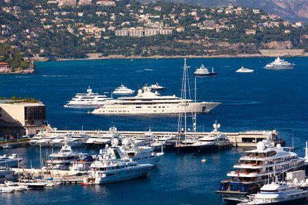 Port Hercule, luxurious boat harbour near Monte Carlo, Monaco