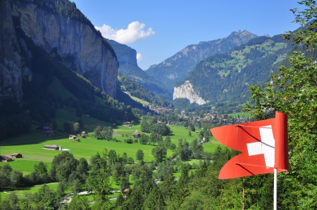 Swiss landscape photo