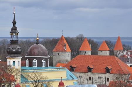 tallin: Old towers in Tallin