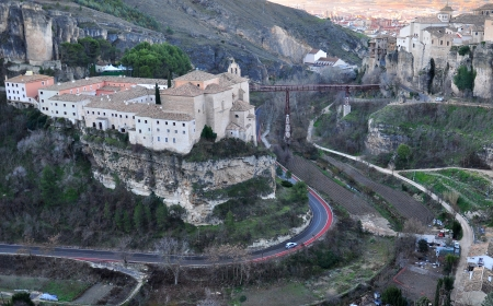 cuenca: panorama of Cuenca, Spain Stock Photo