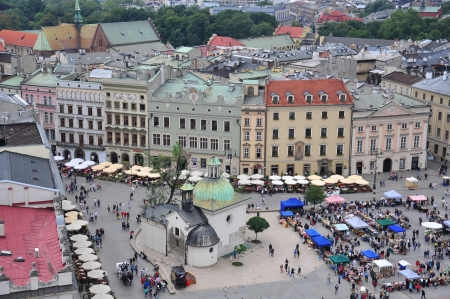cracow: Panorama of Cracow city center