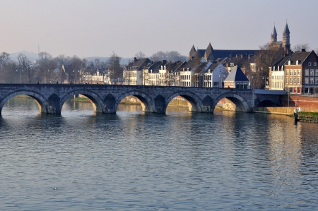 old bridge in maastricht, Holland Banco de Imagens