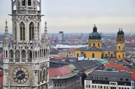 main square of Munich, top view photo