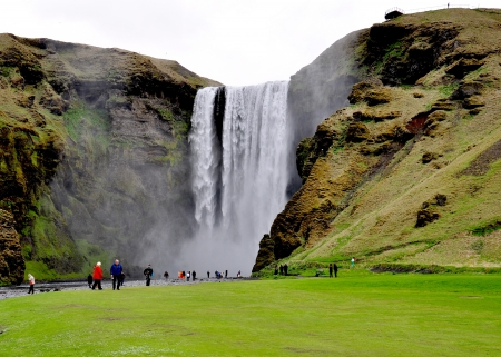 skogafoss waterfall: Skogafoss Waterfall in the south Iceland