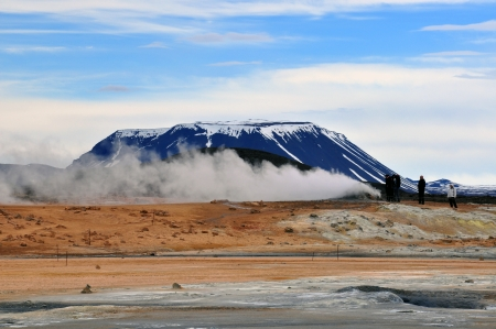 Myvatn hot springs in Iceland photo