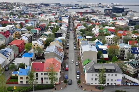 reykjavik: Panorama de la ciudad de Reykjavik, Islandia