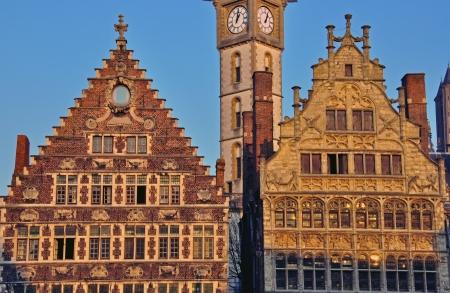 gent: Architecture of Gent, Belgium Stock Photo