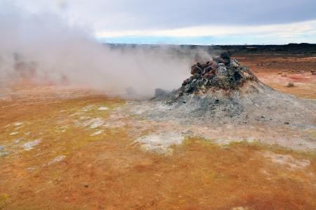 fumarole: Fumarola en Islandia cerca de Myvatn Foto de archivo