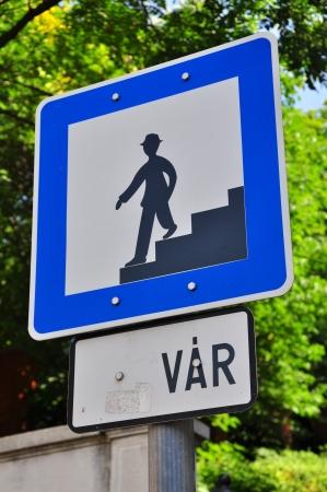 pedestrian sign: Segno pedonale, Budapest, Ungheria