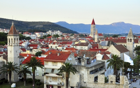Далмация: Panorama of Trogir, Dalmatia, Croatia