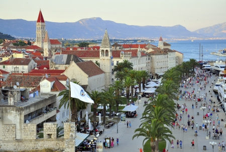 Sunset in Trogir, Dalmatia, Croatia photo