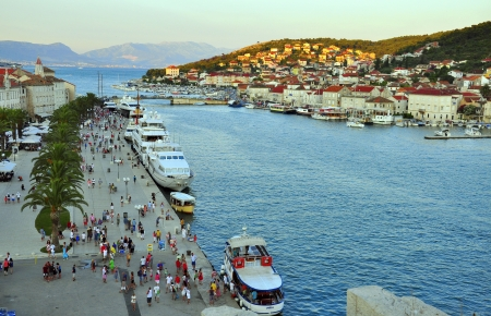 Trogir, Mediterranean resort in Croatia photo