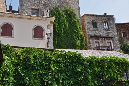 mostar: ivy houses, Mostar old town