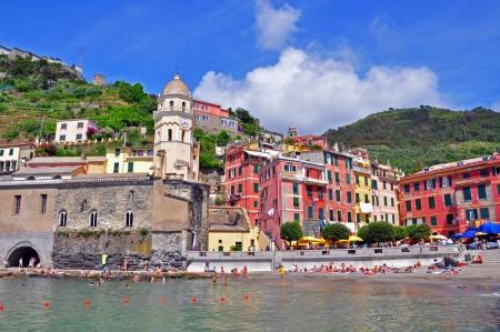 vernazza: Cinque Terre Vernazza Village, Italy Editorial