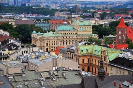 Krakow high angle view, Poland photo