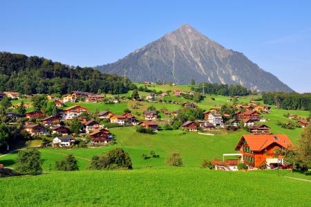 Apline village in Switzerland photo