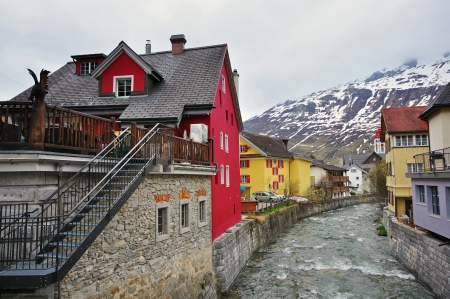 swiss alps: Andermatt, village in swiss Alps