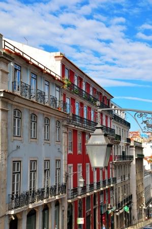 baixa: Llisbon street in Baixa district. Portugal Editorial