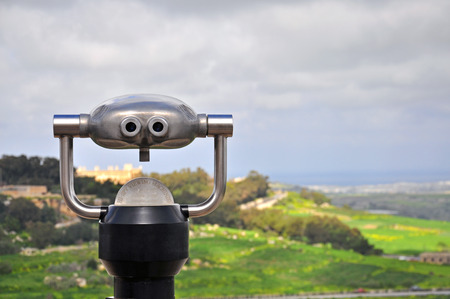 scenic background: Spy Viewing machine on natural scenic background
