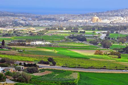 mediaval: Maltese landscape. View from Mdina mediaval city