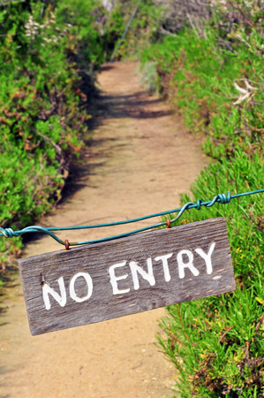 no access: No entry sign in the forest Stock Photo