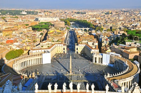 Vatican main square top view, Rome, Italy