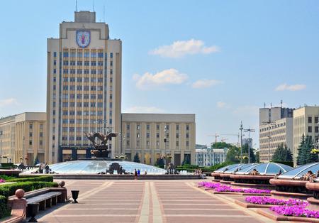central square: Piazza centrale di Minsk, Bielorussia Editoriali